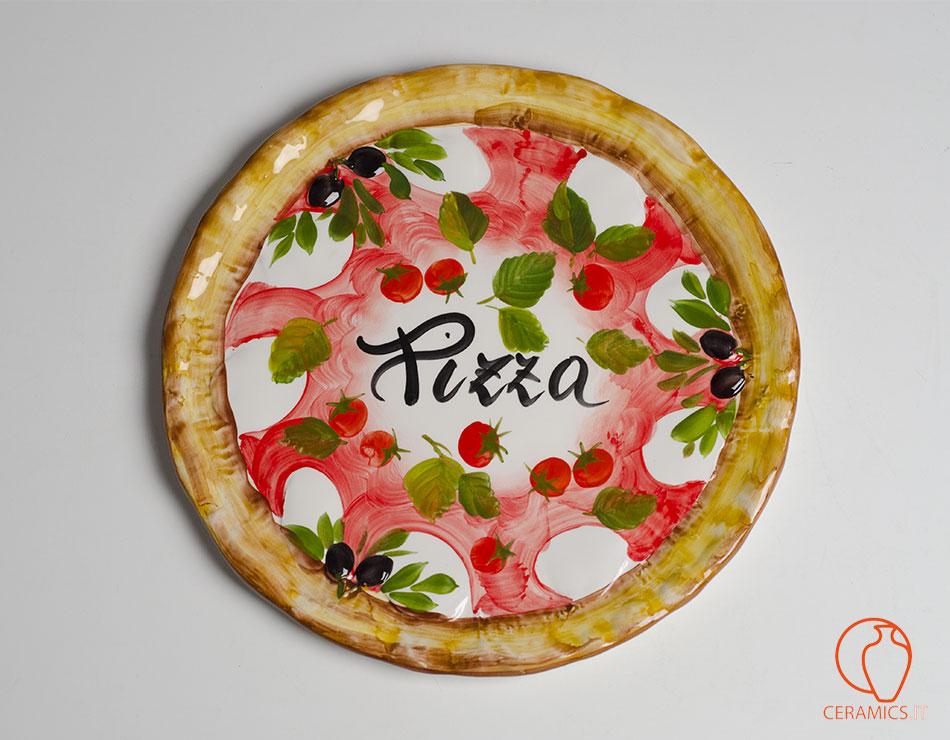 Ceramics piatti pizza in ceramica 6 pezzi for Piatti decorati