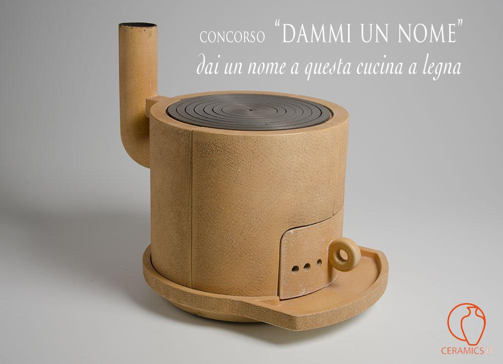 concorso dammi un nome per il nome di questa cucina in ceramica a legna